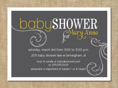 Couples baby shower (digital file) print on your own or add a professional printing services from my shop. $10.00, via Etsy.