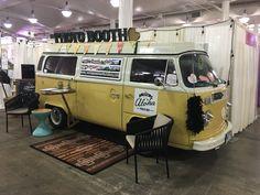 Vintage VW photo booth bus at the #hawaiibridalexpo @bridesclub @bradbuckles