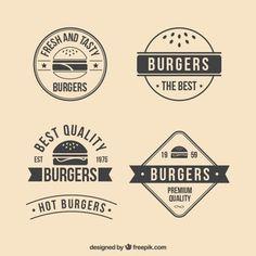 Hambúrgueres retro emblemas