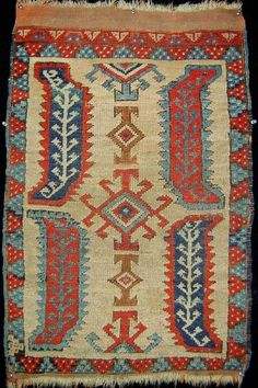 Centralanatolian yastik, best of type, circa 1800, <br>very small repair.