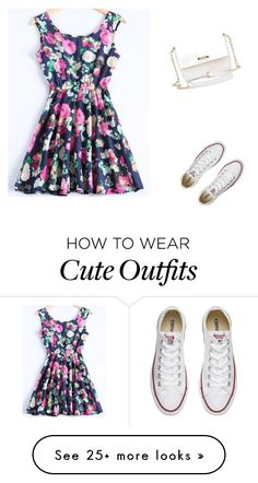"""""""Casual date outfit"""" by chantal6477 on Polyvore featuring Converse"""