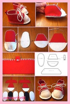 41 ideas for baby accessories diy sewing patterns Doll Shoe Patterns, Baby Shoes Pattern, Sewing Patterns, Felt Baby Shoes, Diy Bebe, Diy Couture, Sewing Dolls, Doll Shoes, Diy Doll