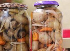 Pieczarki marynowane Pickles, Cucumber, Mason Jars, Islamic Dua, Food, Pickling, Essen, Mason Jar, Meals