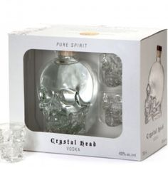Crystal Skull vodka & shot glasses