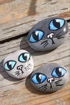 "Find and save images from the ""Kreativ - Rock / Stone / Pebble Art"" collection by Gabis Welt :) (gabi_zitzen) on We Heart It, your everyday app to get lost in what you love. Pebble Painting, Pebble Art, Stone Painting, Diy Painting, Stone Crafts, Rock Crafts, Arts And Crafts, Easy Crafts, Kids Crafts"