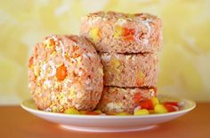 Candy Corn Crispy Treats
