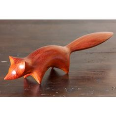 Perry Lancaster | Fox Carving in Padauk Wood