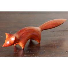 Perry Lancaster | Fox Carving in Padauk Wood