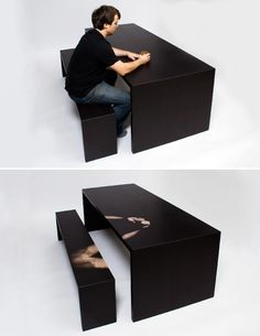 Heat-sensitive table-seat