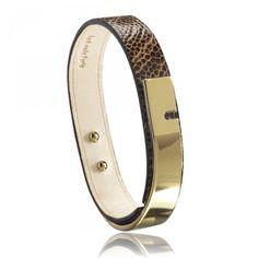 Ladies polished U-Turn chocolate bracelets - Ursul U Turn, Trendy Bracelets, Fitbit Alta, Polish, Chocolate, Lady, Gold, Jewelry, Vitreous Enamel