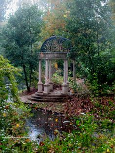 34 Fabulous Garden Folly Design Ideas - A beautiful landscape can enhance any architectural project. A talented landscape architect, landscape designer or homeowner with a green thumb makes . Garden Gazebo, Diy Garden, Dream Garden, Garden Crafts, Beautiful Landscapes, Beautiful Gardens, Landscape Design, Garden Design, Gazebos