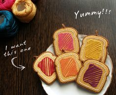 stitched toast with jelly and peanutbutter