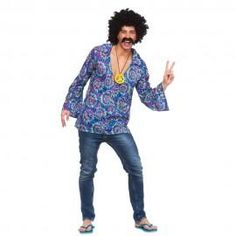 Men's Fancy Dress Costumes- From Superhero, Pirate, historical, decades and beyond. Our Fancy Dress range includes laugh-out-loud funny costumes sure to get a rise, and best of all our Men's Costumes are at very cheap prices. 1960s Costumes, 70s Costume, Costume Shirts, Hippie Costume, Cool Costumes, Adult Costumes, Costume Ideas, Red Fancy Dress, Fancy Dress Outfits
