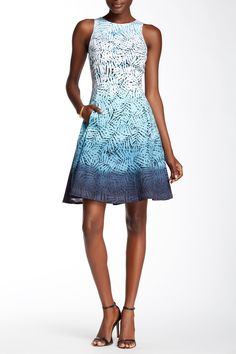 Sleeveless Ombre Printed Fit & Flare Dress by Maggy London on @nordstrom_rack