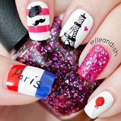 Je't aime Paris nails!