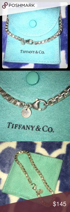 Retired venetian link bracelet Retired beautifully maintained venetian link Tiffany & co bracelet. Absolutely love this timeless piece. Suitable for everyday wear. Time for someone else to love this piece comes with envelope. Tiffany & Co. Jewelry Bracelets
