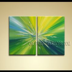 Astonishing Modern Abstract Painting Hand Painted Oil Painting Stretched Ready To Hang Abstract. This 2 panels canvas wall art is hand painted by Bo Yi Art Studio, instock - $145. To see more, visit OilPaintingShops.com