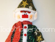 Molde-molderia-duende Christmas Ornaments, Holiday Decor, Home Decor, Elf, Polymer Clay Ornaments, Elves, Felting, Biscuit, Bags