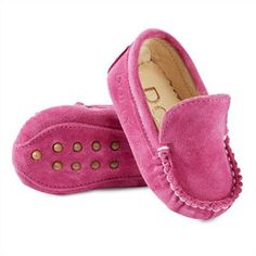 Baby Moccasin - Fuchsia Suede