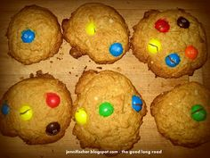 M Cookies Inspired by little blue and little yellow... #cookingwithkids #yum