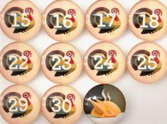 Number Magnets BIGGER - Thanksgiving!