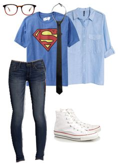 easy Halloween costume , cheap costume , clark Kent costume , superman costume