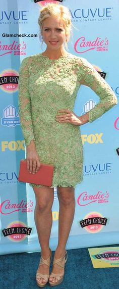Green Lace dress - Brittany Snow