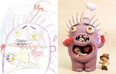 Dans la lignée des créations deFred Giovannitti,cepapa créatif qui s'amuse à colorier les dessins de ses enfants, ou des créations deTelmo Pieper