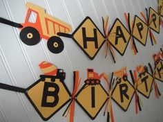 Hey, I found this really awesome Etsy listing at https://www.etsy.com/listing/191982343/construction-truck-happy-birthday-banner