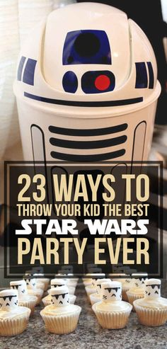 I'm officially requesting a Star Wars bday! 23 Ways To Throw Your Kid The Best Star Wars Birthday Party Ever Bd Star Wars, Tema Star Wars, Star Wars Bb8, Star Wars Kids, Star Wars Food, Star Wars Themed Food, Star Wars Masks, Birthday Star, 4th Birthday Parties