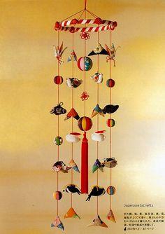 Chirimen - Japanese Traditional Craft  - Crepe Fabric Retro Zakka - Oshie, Hanging Ornament, Temari - Katsumi Yumioka