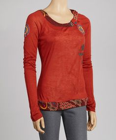Take a look at this Wine Circle Graphic Top by Coline USA on #zulily today! Usually I do not like red but this is cute.