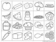 kids nutrition Food Group Sort - MY PLATE - Health - cards & worksheets Healthy And Unhealthy Food, Healthy Eating For Kids, Nutrition Activities, Kids Nutrition, Food Groups For Kids, English Activities For Kids, Food Coloring Pages, Food Doodles, Healthy Plate