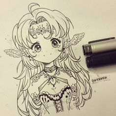Instagram media by barbara_drawings - I'M BACK!! I missed you guys so muchh <33 *virtual hugz* 🎉💖✈ I did a quickly drawing of an elf lady, with other eye style and in black and white! (That's so rare!!) I may delete this later, i just want you to know that i'm back and ily 💖💖🙈 I would like to have some tips on my style. I think i should change something, but idk what ;;;; This was inspired in all my beloved followers and my favorite artists!! 💖 I love you all and i hope you like this…