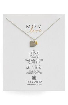 Dogeared 'Family - Mom Love' Cluster Pendant Necklace available at #Nordstrom