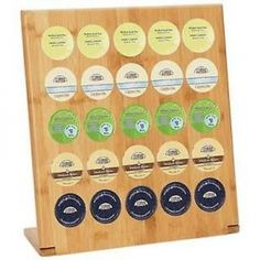 HealthSmart Bamboo 25-Cup Coffee-pod Rack Brew-Cups. Featuring 25 holes for storing your favorite single-serve brewing cups, this handy coffee-pod rack fits many popular brands of brew-cups. Add storage and style to your kitchen with this HealthSmart bamboo brew-cup rack.  Colors/finish: Natural Materials: Bamboo Quantity: One (1) Setting: Indoor Dimensions: 12.75 inches high x 14 inches wide x 0.5 inches long 25 holes for brewing cups Fits many popular brands of coffee-pods     Shipping…