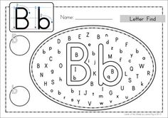 Uppercase and Lowercase Letter Find... use dot paint, markers, highlighters, stickers, etc Could also laminate them so that they can be reused.