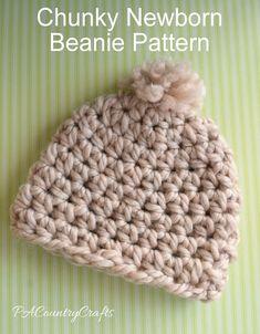 PACountryCrafts: Chunky Newborn Beanie Pattern