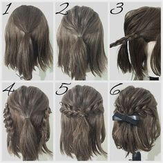 Neat easy prom hairstyle tutorials for girls with short hair The post easy prom . - Neat easy prom hairstyle tutorials for girls with short hair The post easy prom . Curly Hair Styles, Curly Prom Hair, Prom Hairstyles For Short Hair, Short Hair Styles Easy, Girl Short Hair, Up Hairstyles, Medium Hair Styles, Amazing Hairstyles, Easy Homecoming Hairstyles