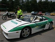 Colombian police seized this Ferrari 348 from a drug smuggler and, rather than sell it on or crush it, turned it into a cop car. Rather than high-speed pursuits through the streets of Bogota, however, this one is used for crime-prevention exhibitions.