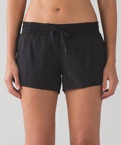 Lululemon Black shorts with mesh detail