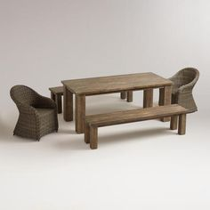 Just treated myself to this at WorldMarket.com: San Paolo Outdoor Dining Collection. Can't wait to use it!