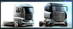 Mercedes Benz Truck Sketches on Behance