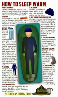Don't assume your Scouts know how to sleep warm while camping, it's importan. - Don't assume your Scouts know how to sleep warm while camping, it's important to instruct them - Glamping, Vw Camping, Camping And Hiking, Camping Ideas, Outdoor Camping, Camping Outdoors, Camping Guide, Hiking Gear, Family Camping