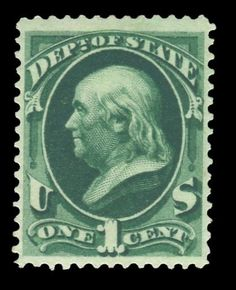 Scott# O57, 1873 1c Dark green, PSE Ungraded 0, Mint OGnh  http://www.collectorscorner.com/Products/Item.aspx?id=23008017  #StampsForSale #ContintentalIssues #PSE #Stamp #MintOGNH #Philately #Online #Collectible #Marketplace #DepartmentofState #BackoftheBook #ScottCatalogue