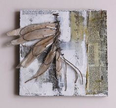 By Kate Thompson of Fractured Angelics Collages, Tea Bag Art, Wax Art, Collage Techniques, Collage Art Mixed Media, Fabric Journals, Encaustic Art, Assemblage Art, Art Journal Pages