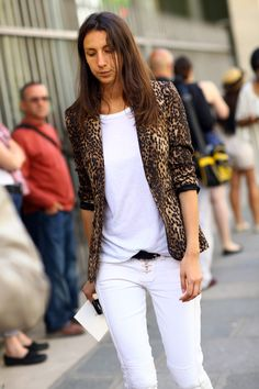 ADORE the lace-up denim & leopard jacket. Geraldine