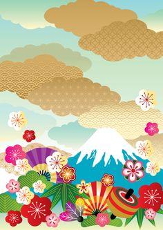 配色が楽しい新春のおめでたい柄 by ririe