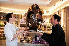 Chocolate egg by Thierry Atlan