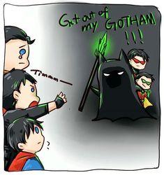 Superhero Memes, Superhero Kids, Loki Marvel, Marvel Funny, Dc Comics Art, Marvel Dc Comics, Super Sons, Batfamily Funny, Teen Titans Starfire